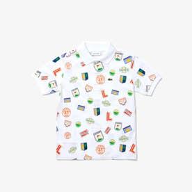 BOYS総柄アイコンプリントポロシャツ (ホワイト)