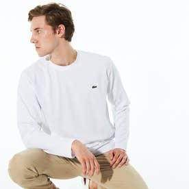 鹿の子地ロングスリーブTシャツ (ホワイト)