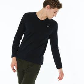 VネックTシャツ (長袖) (ブラック)