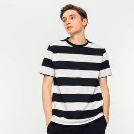 ビックボーダーTシャツ (ブラック)