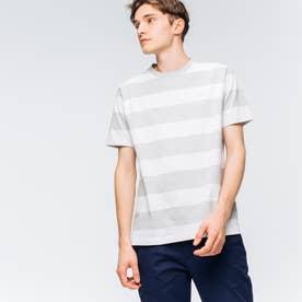 ビックボーダーTシャツ (ライトグレー)