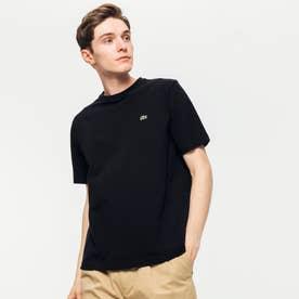 鹿の子クルーネックTシャツ(半袖) (ブラック)