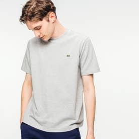 鹿の子クルーネックTシャツ(半袖) (グレー)