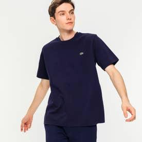 鹿の子クルーネックTシャツ(半袖) (ネイビー)