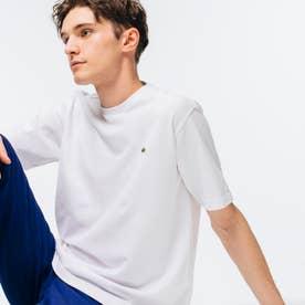 鹿の子クルーネックTシャツ(半袖) (ホワイト)