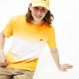 レギュラーフィットMade In FranceオーガニックコットンピケカラーブロックTシャツ (半袖) (イエロー)
