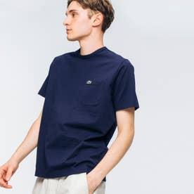 ベーシッククルーネックポケットTシャツ (半袖) (ネイビー)