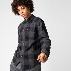 リバーシブルブロックチェックシャツ (ブラック)
