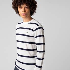 ワッフルボーダーTシャツ (ホワイト)