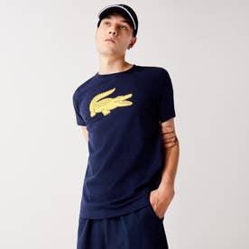 コットンブレンドウルトラドライロゴプリントTシャツ (ネイビー)