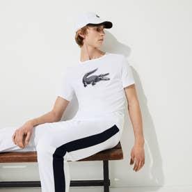 コットンブレンドウルトラドライロゴプリントTシャツ (ホワイト)