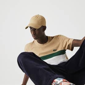 フロントカラーブロッキングTシャツ (グレー)