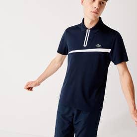 SPORT ウルトラドライジップカラーテニスポロシャツ (ネイビー)