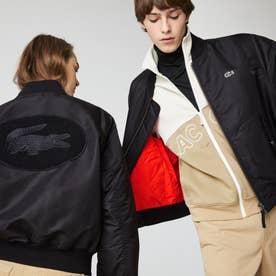 L!VE ユニセックス フェルトロゴMA-1ジャケット (ブラック)