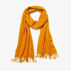 ウール×カシミヤブレンドスカーフ (オレンジ)