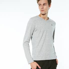 VネックロングTシャツ (グレー)