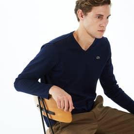 VネックロングTシャツ (ネイビー)