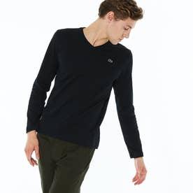 VネックロングTシャツ (ブラック)