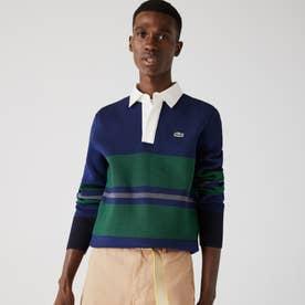 ラグビーポロシャツニットセーター (グリーン)