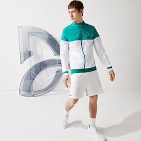 「ノバク・ジョコビッチ」バイカラージップジャケット (ホワイト×グリーン)