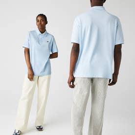 L!VEメタルバッジルーズフィットポロシャツ (ライトブルー)