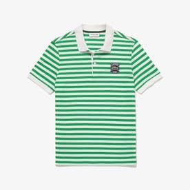 ボーダーLACOSTEクラブポロシャツ (グリーン)