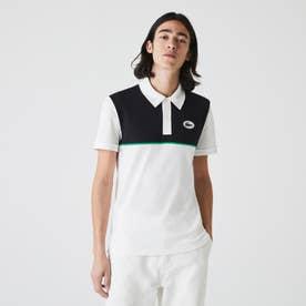 フロントヨーク切り替えポロシャツ (ホワイト)