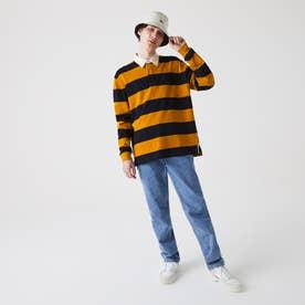 ボーダーラガーシャツ (オレンジ)