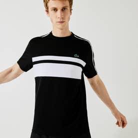 パネルボーダーテニスTシャツ (ブラック)