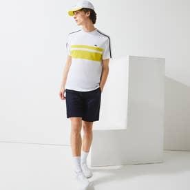パネルボーダーテニスTシャツ (ホワイト)
