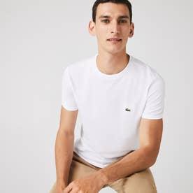 レギュラーフィット ピマコットンクルーネックTシャツ (ホワイト)