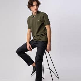 『L1264』定番半袖ポロシャツ(杢糸) (オリーブ)
