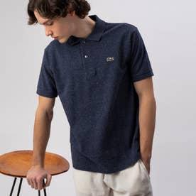 『L1264』定番半袖ポロシャツ(杢糸) (インディゴブルー)