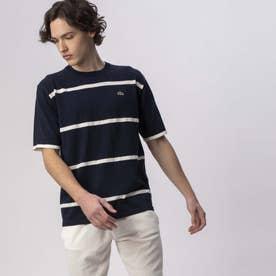 クールマックスニットボーダーTシャツ (ネイビー)