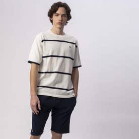 クールマックスニットボーダーTシャツ (ホワイト)