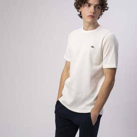 コットン×リネンワッフルTシャツ (ホワイト)