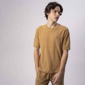 無縫製ニットTシャツ (ダークベージュ)
