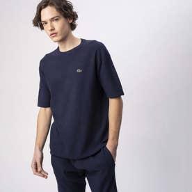 無縫製ニットTシャツ (ネイビー)