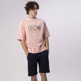 ビッグクロック半袖スウェット (ピンク)