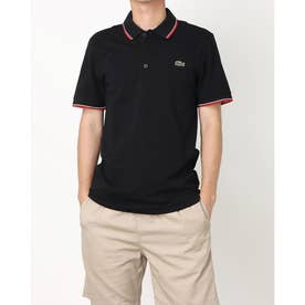 ULTRA LITE KNIT PIPPING POLO SHIRT YH7900 (ブラック×レッド)
