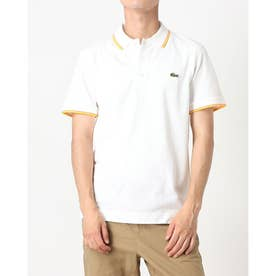 ULTRA LITE KNIT PIPPING POLO SHIRT YH7900 (ホワイト×オレンジ)