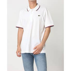 ULTRA LITE KNIT PIPPING POLO SHIRT YH7900 (ホワイト×レッド)