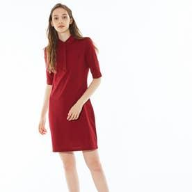 スリムフィットポロシャツドレス(5分袖) (ローズ)