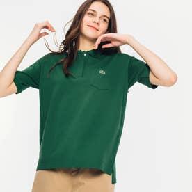 ルーズフィットストレッチピケポケットポロシャツ (半袖) (グリーン)