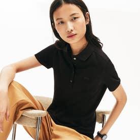 スリムフィット ストレッチコットンピケポロ(半袖) (ブラック)
