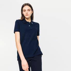 レギュラーフィットインディゴピケポロシャツ(半袖) (ブラック)