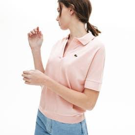 リラックスフィットピケポロシャツ(半袖) (ピンク)
