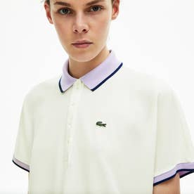 リラックスフィットコントラストラインポロシャツ(半袖) (オフホワイト)