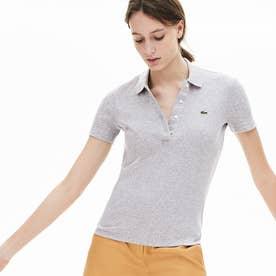 リブコットンポロシャツ(半袖) (グレー)
