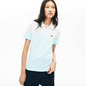 Made In Flance オーガニックコットン グラデーションデザインポロシャツ (半袖) (ライトブルー)